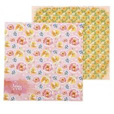 """Бумага для скрапбукинга """"Яркие цветы"""" 29,5х29,5см"""
