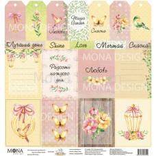Бумага для скрапбукинга Лист Карточки - Magic Garden 30,5х30,5см