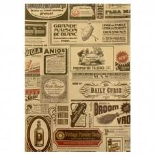"""Бумага для скрапбукинга крафт """"Газетные вырезки"""" Формат А4 (21х29,7 см)"""