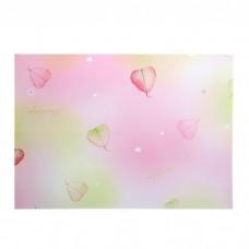 "Бумага для скрапбукинга ""Листочки на розовом"" 21х29,7 см"