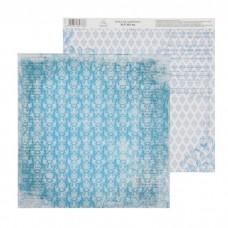 """Бумага для скрапбукинга Вдохновение """"Старинный голубой"""" 30.5 х 30.5 см 180 гр/м2"""
