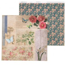 """Бумага для скрапбукинга La Botanique """"Цветочные мотивы"""" 30.5 х 30.5 см 180 гр/м2"""