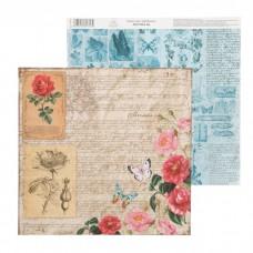 """Бумага для скрапбукинга La Botanique """"Письмо"""" 30.5 х 30.5 см 180 гр/м2"""