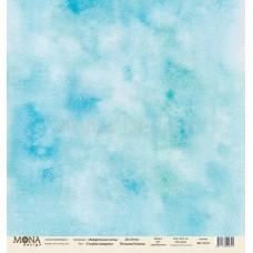 """Бумага для скрапбукинга """"Голубая акварель"""" Monadesign"""