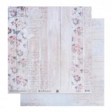 Бумага для скрапбукинга «Розовый шебби», 30.5 × 32 см, 180 гм