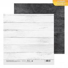 Бумага для скрапбукинга двусторонняя «Беленые доски», 20 х 20 см, 180 г/м