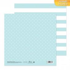 Бумага для скрапбукинга двусторонняя «Голубая дымка», 20 х 20 см, 180 г/м