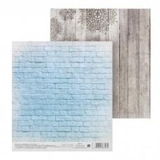 Бумага двусторонняя для скрапбукинга «На фоне зимы» 15,5 х 15,5