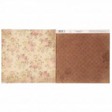 """Бумага для скрапбукинга Наследие нашей семьи""""Цветы"""" 30.5 х 30.5 см 180 гр/м2"""
