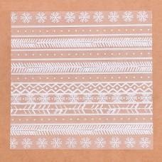 Ацетатный лист для скрапбукинга «Зимний узор», 15,5 × 15,5 см