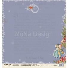 Бумага для скрапбукинга Рождественские подарки из коллекции Сказочное рождество 30,5х30,5см