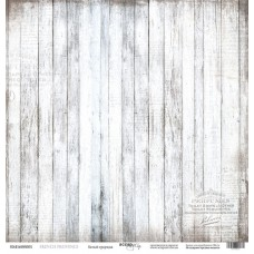 Бумага для скрапбукинга односторонняя Белый граундж из коллекции French Provence 30х30см от Scrapmir