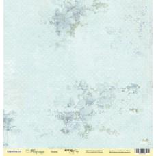 Бумага для скрапбукинга односторонняя Цветы из коллекции Корица 30х30см от Scrapmir