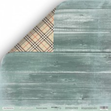 Бумага для скрапбукинга двусторонняя Green tree из коллекции Nordic Spirits 30х30см от Scrapmir