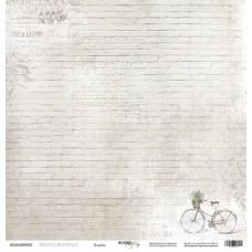 Бумага для скрапбукинга односторонняя Кладка из коллекции French Provence 30х30см от Scrapmir