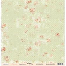 Бумага для скрапбукинга односторонняя Нежные цветы из коллекции Карамель 30х30см от Scrapmir