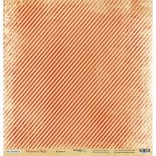 Бумага для скрапбукинга односторонняя Карамель из коллекции Christmas Night 30х30см от Scrapmir