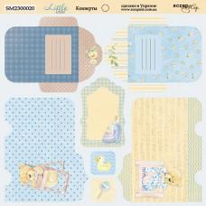 Бумага для скрапбукинга двусторонняя Конверты Little Bear 20х20см от Scrapmir