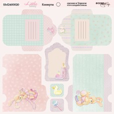 Бумага для скрапбукинга двусторонняя Конверты Little Bunny 20х20см от Scrapmir