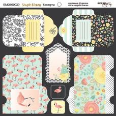 Бумага для скрапбукинга двусторонняя Конверты Simple Flowers  20х20см от Scrapmir