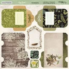 Бумага для скрапбукинга двусторонняя Конверты Cozy Forest 20х20см от Scrapmir