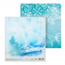 Бумага для скрапбукинга «Кружит снежок» 15,5 х 15,5