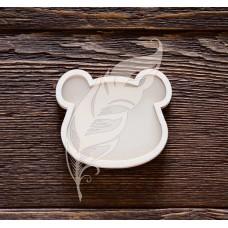Заготовка для шейкера мишка 6,5 х 5,6 см (4 элемента из картона + 1 пластиковая вставка)