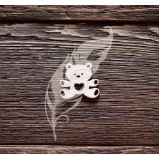 Чипборд. Мишка №3, 2, 9 х 3 см