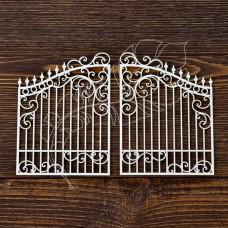 Чипборд. Ворота 2 элемента, Указан размер 1 элемента, размер 5,2 × 7 см.