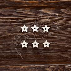 Чипборд. Подложки для анкеров звездочка, 6 элементов, указан размер 1 элемента, отверстие 2,5 мм, размер 1,4 × 1,4 см.