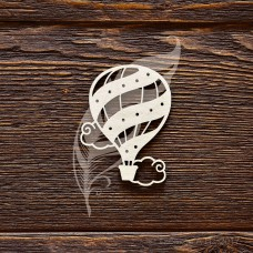 """Чипборд """"Воздушный шар с облачками"""", размер 4,5 × 6 см."""