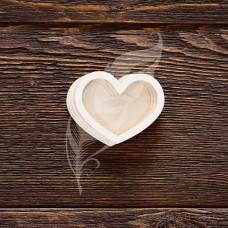 Заготовка для шейкера сердечко, 4 элемента из картона и 2 элемента из пластика, 5х3,9 см