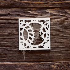 "Чипборд ""механизмы №3"", размер 6 × 6 см."