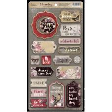 Набор чипборда для скрапбукинга Charming (Очарование) ENG 18шт.  от Scrapmir
