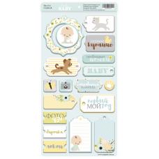 Набор чипборда для скрапбукинга Smile Baby 18шт.  от Scrapmir
