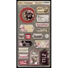 Набор чипборда для скрапбукинга Charming (Очарование) RU 18шт.  от Scrapmir