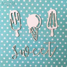 "Набор чипборда ""Sweet"" Monadesign"