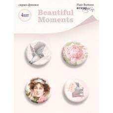 Скрап-фишки 4шт. Набор Beautiful Moments от Scrapmir