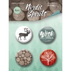 Скрап-фишки 4шт. Набор Nordic Spirits от Scrapmir