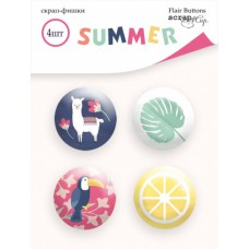 Скрап-фишки 4шт. Набор Summer от Scrapmir