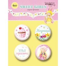 Скрап-фишки 4шт. Набор Sweet Girls от Scrapmir