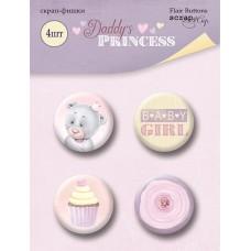 Скрапфишки 4шт. Набор Daddy's Princess от Scrapmir