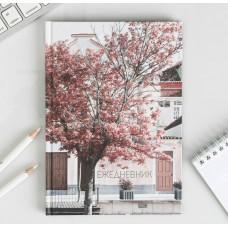 """Ежедневник """"Розовое дерево"""", твёрдая обложка, А5, 80 листов"""