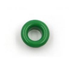 Люверсы металлические 10шт., 5х9 мм, цвет зеленый