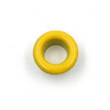 Люверсы металлические 10шт., 5х9 мм, цвет желтый