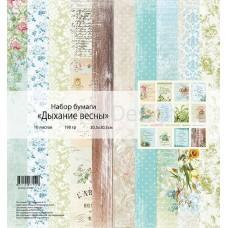 Набор бумаги Дыхание весны 11листов 30,5х30,5см, 190 гр., MONAdesign