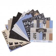 """Набор бумаги для скрапбукинга Me to you """"Самый лучший"""" 12 листов 15.5 x 15.5 см, 180 г/м"""