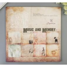 """Набор бумаги для скрапбукинга (20 листов) """"Музыка и память"""" 30,5х30,5 см"""