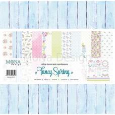"""Набор бумаги """"Fancy Spring"""" 12 листов 30,5х30,5 см"""