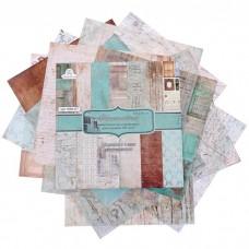 """Набор бумаги для скрапбукинга (13 листов) """"Ностальгия"""" 180г/м2, 30,5х30,5см"""